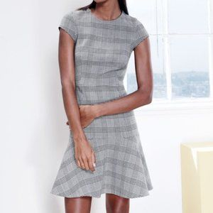 J.Crew | Glen Plaid Cap-Sleeve Dress